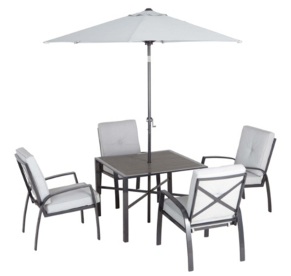 Wyndham Grey Patio Set-6 Piece