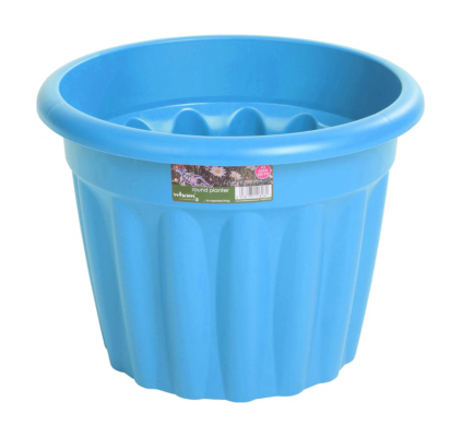 Round Plastic Planter - Blueberry - 33 cm
