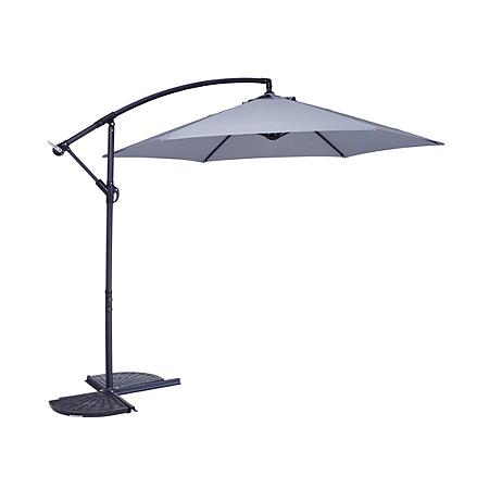 leanover parasol light grey garden furniture asda direct. Black Bedroom Furniture Sets. Home Design Ideas