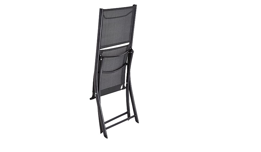 Miami 2 Folding Bistro Chairs - Charcoal