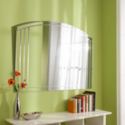 Glass Bevelled Overmantle Mirror