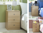 Brighton 3-in-1 Children's Bedside Cabinet