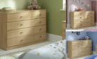 Brighton 3-in-1 Children's Chest of Drawers