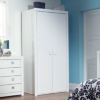 Monaco White Gloss 2 Door Wardrobe main view