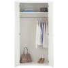 Monaco White Gloss 2 Door Wardrobe alternative view