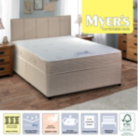 Myers Memory Super King Divan - Various Storage Options