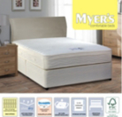 Myers Pillowtop Maxi Spring Super King Divan With Memory And Latex - Various Storage Options