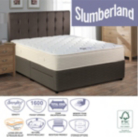 Slumberland 1600 Pocket Super King Divan - Various Storage Options