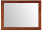 Lima Wall Mirror - Dark Veneer