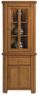 Lyon Corner Display - Antique Golden Oak