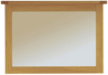 Manor Wall Mirror - Natural Oak main view