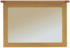 Manor Wall Mirror - Natural Oak