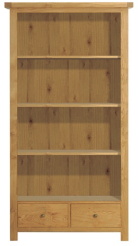 Manor Tall Bookcase - Natural Oak