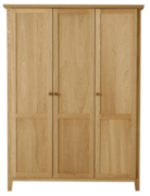 Amber Three Door Wardwardrobe - Solid Oak