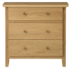 Amber Low Wide Chest of Drawers - Solid Oak main view