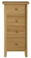 Amber Tall Narrow Chest of Drawers - Solid Oak main view