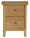 Amber Bedside Cabinet - Solid Oak main view