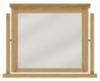 Amber Free Standing Mirror - Solid Oak with Oak Veneers main view
