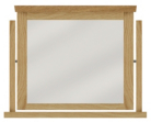 Amber Free Standing Mirror - Solid Oak with Oak Veneers