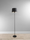 ASDA Powder Coated Floor Lamp with Black Shade main view