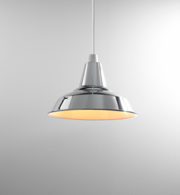 ASDA Chrome Industrial Pendant