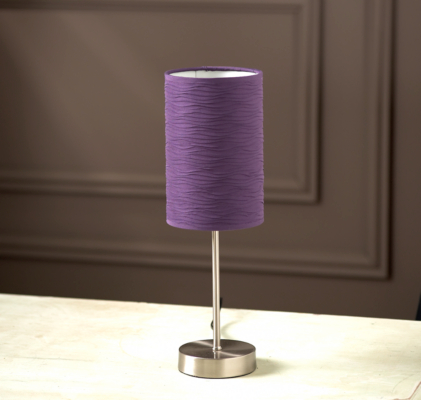 Asda touch table lamp with ripple shade purple purple