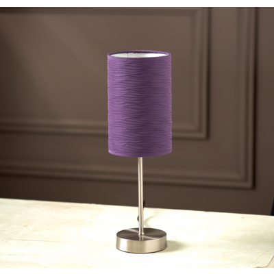 buy cheap purple lamp shade compare lighting prices for. Black Bedroom Furniture Sets. Home Design Ideas
