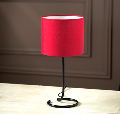 asda twisted metal table lamp red black base review. Black Bedroom Furniture Sets. Home Design Ideas