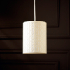 ASDA Cut Out Geo Cylinder Light Shade - Cream main view