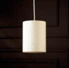 ASDA Cut Out Geo Cylinder Light Shade - Cream