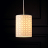 ASDA Cut Out Geo Cylinder Light Shade - Cream alternative view