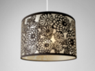 ASDA Shiny Laser Cut Drum Shade