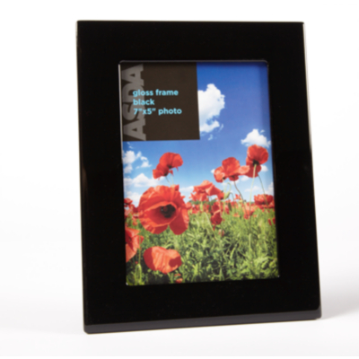 ASDA Black Gloss Photo Frame - 6x4ins, Black