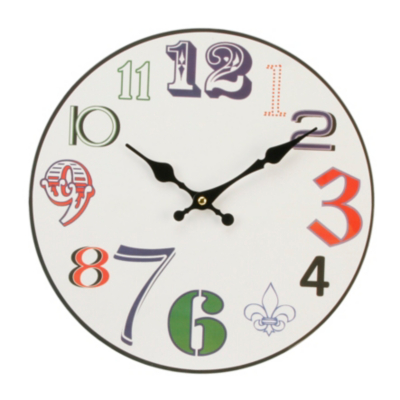 ASDA Bright Numbers Wall Clock, Multi