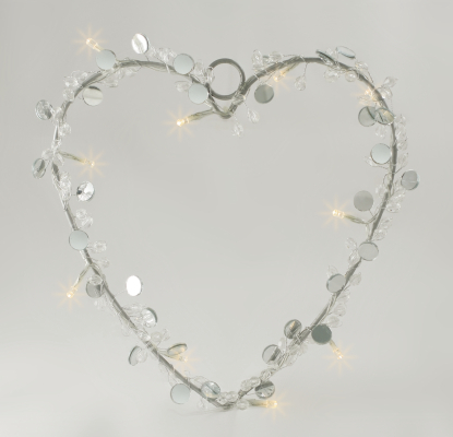 Mirrored Heart Decorative Light