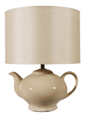 asda teapot table lamp cream cream review. Black Bedroom Furniture Sets. Home Design Ideas