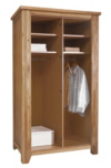 Sherwood Solid Wood 2 Door Full Hanging Wardrobe  alternative view