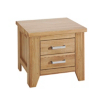 Sherwood Solid Wood 2 Drawer Bedside Cabinet  alternative view