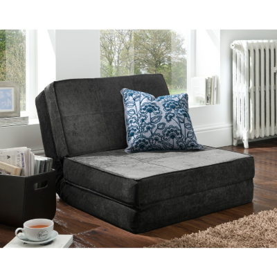 Thames Chair Bed in Charcoal