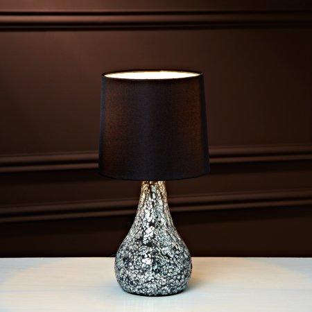 Small Silver Mosaic Table Lamp