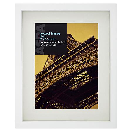 george home white boxed photo frame 8 x 6 inch frames. Black Bedroom Furniture Sets. Home Design Ideas