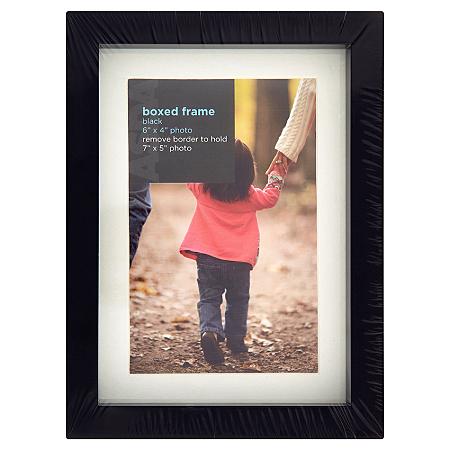 george home black boxed frame frames albums asda direct. Black Bedroom Furniture Sets. Home Design Ideas