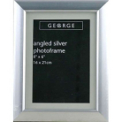 ASDA Angled Silver Photo Frame - 8x6 Inch