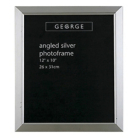 ASDA Angled Silver Photo Frame - 12x10 Inch