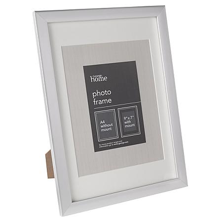 george home silver basic frame 9 x 7 inch frames. Black Bedroom Furniture Sets. Home Design Ideas