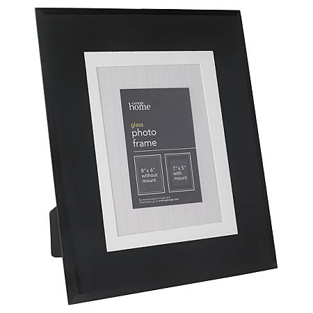 george home black glass frame 7 x 5 inch frames. Black Bedroom Furniture Sets. Home Design Ideas