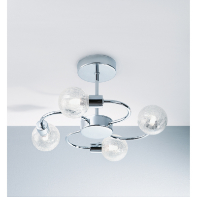 Asda Crackle 4 Arm Ceiling Light Fitting Chrome Review Compare Prices Buy Online