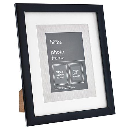 george home black boxed frame 8 x 6 inch plain frames. Black Bedroom Furniture Sets. Home Design Ideas