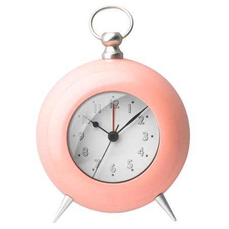 George Home Peach Retro Alarm Clock