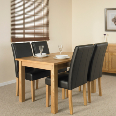 Clifton Extending Dining Table and 4 Brown